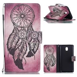 Wind Chimes Leather Wallet Phone Case for Samsung Galaxy J5 2017 J530 Eurasian