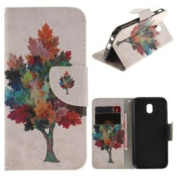 Colored Tree PU Leather Wallet Case for Samsung Galaxy J5 2017 J530 Eurasian