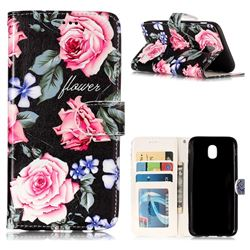 Peony 3D Relief Oil PU Leather Wallet Case for Samsung Galaxy J5 2017 J530 Eurasian