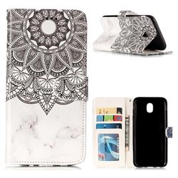 Marble Mandala 3D Relief Oil PU Leather Wallet Case for Samsung Galaxy J5 2017 J530 Eurasian