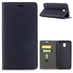 Tree Bark Pattern Automatic suction Leather Wallet Case for Samsung Galaxy J5 2017 J530 Eurasian - Black
