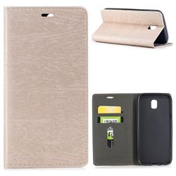 Tree Bark Pattern Automatic suction Leather Wallet Case for Samsung Galaxy J5 2017 J530 Eurasian - Champagne Gold