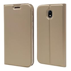 Ultra Slim Card Magnetic Automatic Suction Leather Wallet Case for Samsung Galaxy J5 2017 J530 Eurasian - Champagne