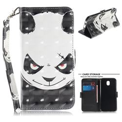Angry Bear 3D Painted Leather Wallet Phone Case for Samsung Galaxy J5 2017 J530 Eurasian