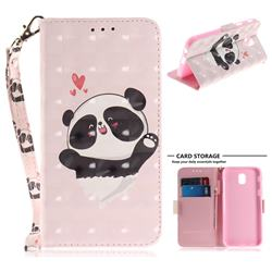 Heart Cat 3D Painted Leather Wallet Phone Case for Samsung Galaxy J5 2017 J530 Eurasian