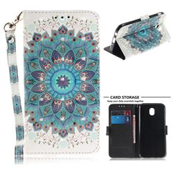 Peacock Mandala 3D Painted Leather Wallet Phone Case for Samsung Galaxy J5 2017 J530 Eurasian
