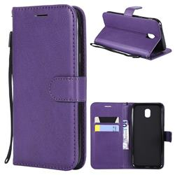 Retro Greek Classic Smooth PU Leather Wallet Phone Case for Samsung Galaxy J5 2017 J530 Eurasian - Purple