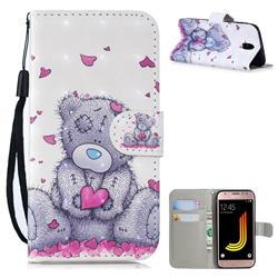 Love Panda 3D Painted Leather Wallet Phone Case for Samsung Galaxy J5 2017 J530 Eurasian