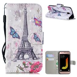 Paris Tower 3D Painted Leather Wallet Phone Case for Samsung Galaxy J5 2017 J530 Eurasian