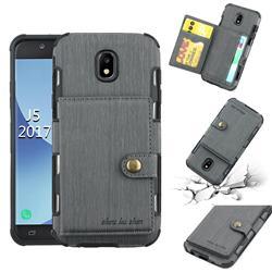 Brush Multi-function Leather Phone Case for Samsung Galaxy J5 2017 J530 Eurasian - Gray