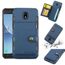Brush Multi-function Leather Phone Case for Samsung Galaxy J5 2017 J530 Eurasian - Blue