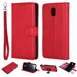 Retro Greek Detachable Magnetic PU Leather Wallet Phone Case for Samsung Galaxy J5 2017 J530 Eurasian - Red