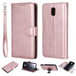Retro Greek Detachable Magnetic PU Leather Wallet Phone Case for Samsung Galaxy J5 2017 J530 Eurasian - Rose Gold