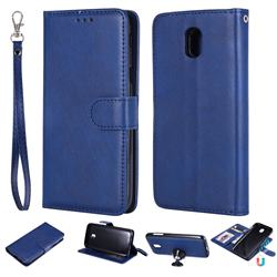 Retro Greek Detachable Magnetic PU Leather Wallet Phone Case for Samsung Galaxy J5 2017 J530 Eurasian - Blue