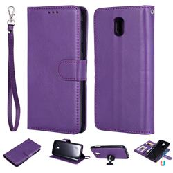 Retro Greek Detachable Magnetic PU Leather Wallet Phone Case for Samsung Galaxy J5 2017 J530 Eurasian - Purple