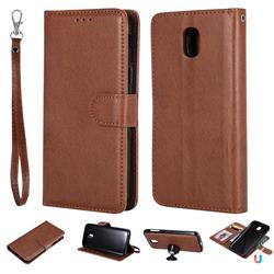 Retro Greek Detachable Magnetic PU Leather Wallet Phone Case for Samsung Galaxy J5 2017 J530 Eurasian - Brown