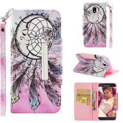 Angel Monternet Big Metal Buckle PU Leather Wallet Phone Case for Samsung Galaxy J5 2017 J530 Eurasian