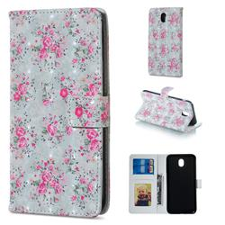 Roses Flower 3D Painted Leather Phone Wallet Case for Samsung Galaxy J5 2017 J530 Eurasian