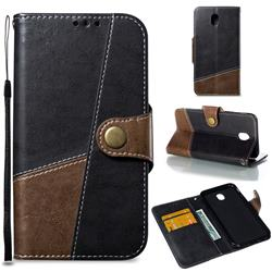 Retro Magnetic Stitching Wallet Flip Cover for Samsung Galaxy J5 2017 J530 Eurasian - Dark Gray