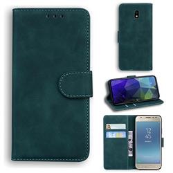 Retro Classic Skin Feel Leather Wallet Phone Case for Samsung Galaxy J5 2017 J530 Eurasian - Green