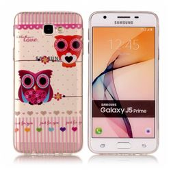 Owls Flower Super Clear Soft TPU Back Cover for Samsung Galaxy J5 Prime