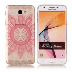 Pink Mandala Super Clear Soft TPU Back Cover for Samsung Galaxy J5 Prime
