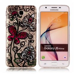 Butterfly Flowers Super Clear Soft TPU Back Cover for Samsung Galaxy J5 Prime