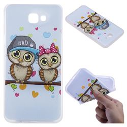Couple Owls 3D Relief Matte Soft TPU Back Cover for Samsung Galaxy J5 Prime