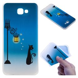Street Light Cat 3D Relief Matte Soft TPU Back Cover for Samsung Galaxy J5 Prime