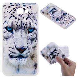 White Leopard 3D Relief Matte Soft TPU Back Cover for Samsung Galaxy J5 Prime