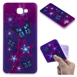 Butterfly Flowers 3D Relief Matte Soft TPU Back Cover for Samsung Galaxy J5 Prime