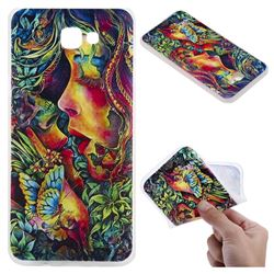 Butterfly Kiss 3D Relief Matte Soft TPU Back Cover for Samsung Galaxy J5 Prime