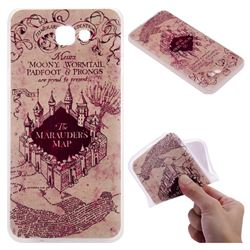 Castle The Marauders Map 3D Relief Matte Soft TPU Back Cover for Samsung Galaxy J5 Prime