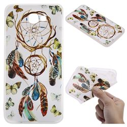 Color Wind Chimes 3D Relief Matte Soft TPU Back Cover for Samsung Galaxy J5 Prime