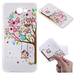 Tree and Girl 3D Relief Matte Soft TPU Back Cover for Samsung Galaxy J5 Prime
