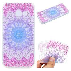 Colored Mandala Super Clear Soft TPU Back Cover for Samsung Galaxy J5 Prime