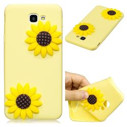 Yellow Sunflower Soft 3D Silicone Case for Samsung Galaxy J5 Prime