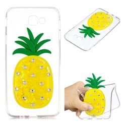 Yellow Pineapple Liquid Quicksand Soft 3D Cartoon Case for Samsung Galaxy J5 Prime