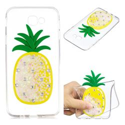 White Pineapple Liquid Quicksand Soft 3D Cartoon Case for Samsung Galaxy J5 Prime