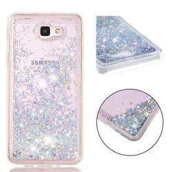 Dynamic Liquid Glitter Quicksand Sequins TPU Phone Case for Samsung Galaxy J5 Prime - Silver