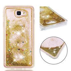 Dynamic Liquid Glitter Quicksand Sequins TPU Phone Case for Samsung Galaxy J5 Prime - Golden