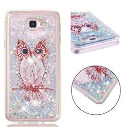 Seashell Owl Dynamic Liquid Glitter Quicksand Soft TPU Case for Samsung Galaxy J5 Prime