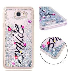 Smile Flower Dynamic Liquid Glitter Quicksand Soft TPU Case for Samsung Galaxy J5 Prime
