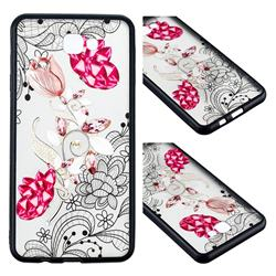 Tulip Lace Diamond Flower Soft TPU Back Cover for Samsung Galaxy J5 Prime
