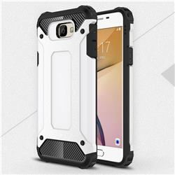King Kong Armor Premium Shockproof Dual Layer Rugged Hard Cover for Samsung Galaxy J5 Prime - White