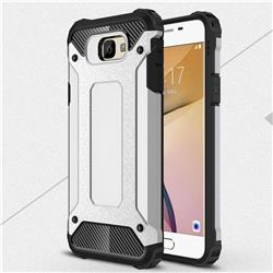 King Kong Armor Premium Shockproof Dual Layer Rugged Hard Cover for Samsung Galaxy J5 Prime - Technology Silver