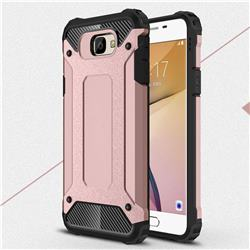 King Kong Armor Premium Shockproof Dual Layer Rugged Hard Cover for Samsung Galaxy J5 Prime - Rose Gold