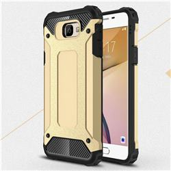 King Kong Armor Premium Shockproof Dual Layer Rugged Hard Cover for Samsung Galaxy J5 Prime - Champagne Gold