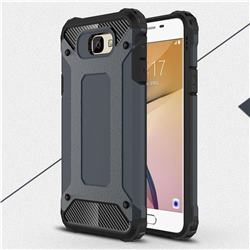 King Kong Armor Premium Shockproof Dual Layer Rugged Hard Cover for Samsung Galaxy J5 Prime - Navy