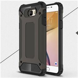 King Kong Armor Premium Shockproof Dual Layer Rugged Hard Cover for Samsung Galaxy J5 Prime - Bronze